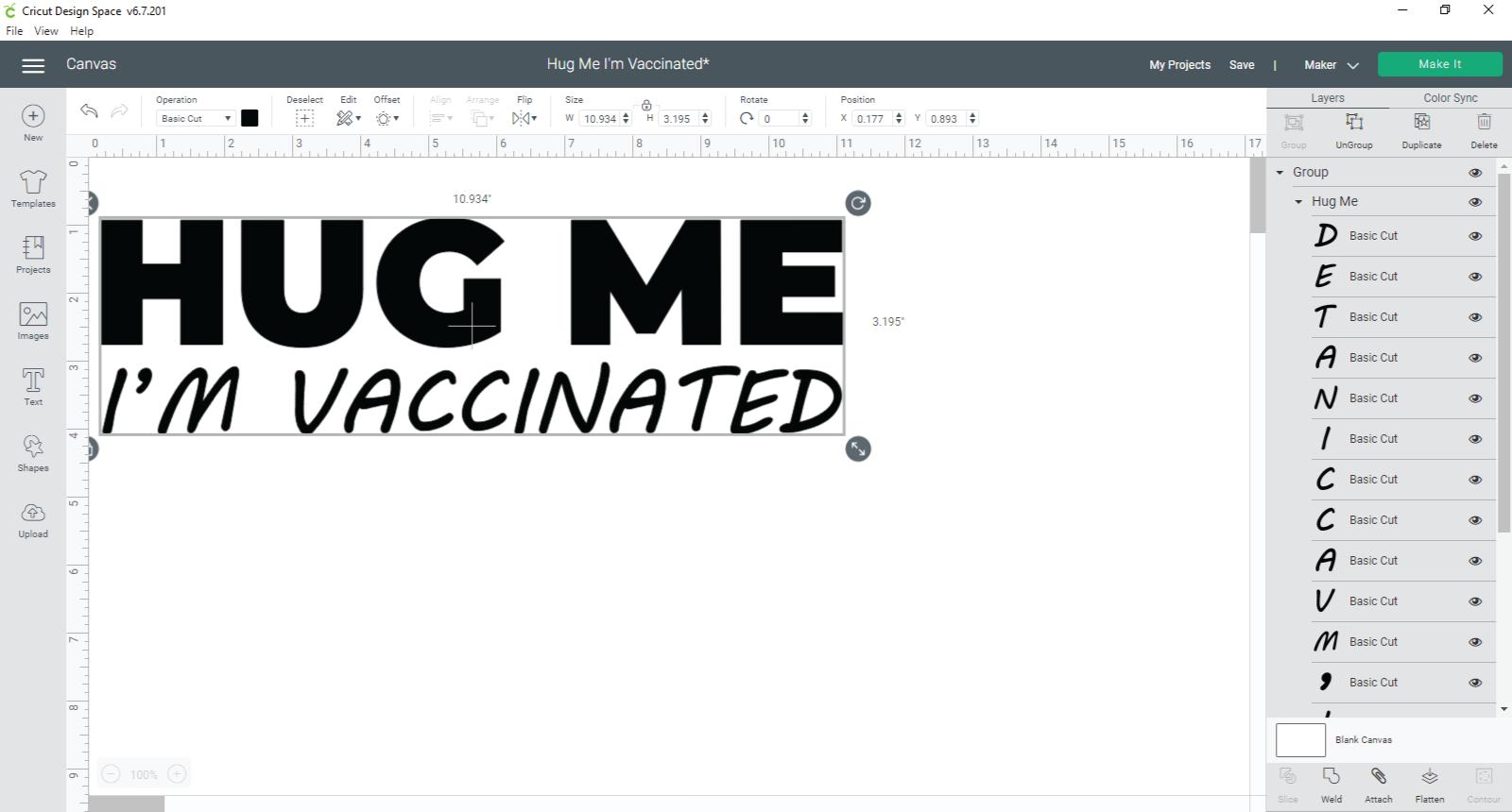 Manipulating an SVG file in Cricut Design Space
