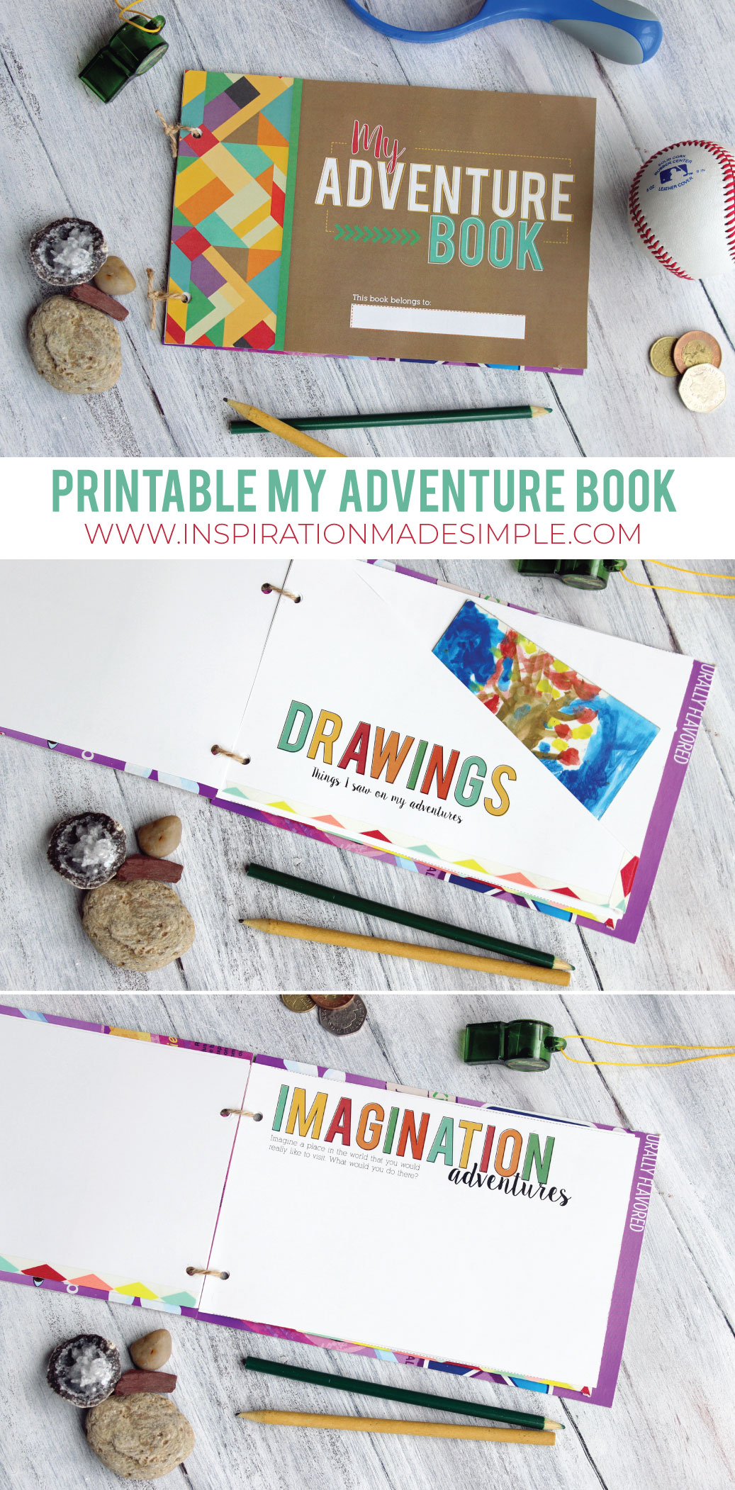 Printable My Adventure Book for Kids