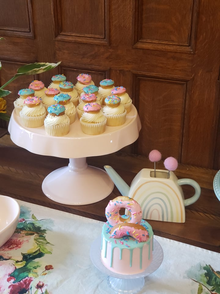 Donut Themed Baby Shower Cupcakes