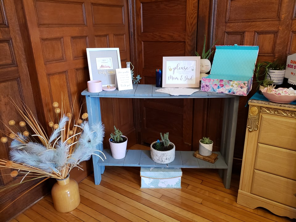Donut Themed Baby Shower Wishes Table