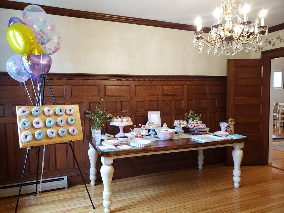 Donut Themed Baby Shower Dessert Table