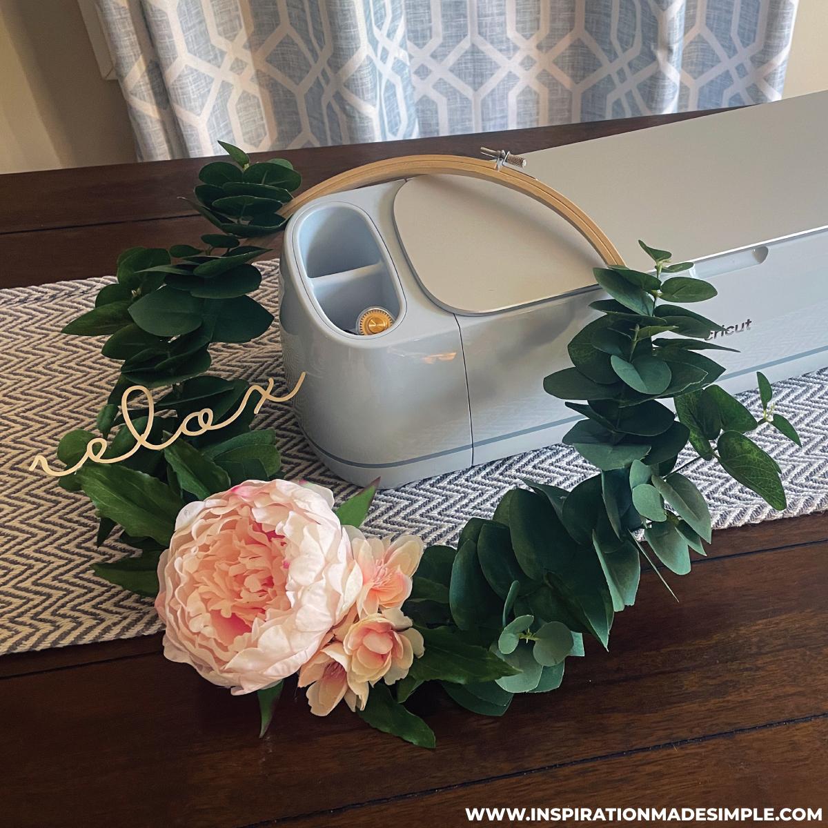 DIY Relax Bathroom Wreath