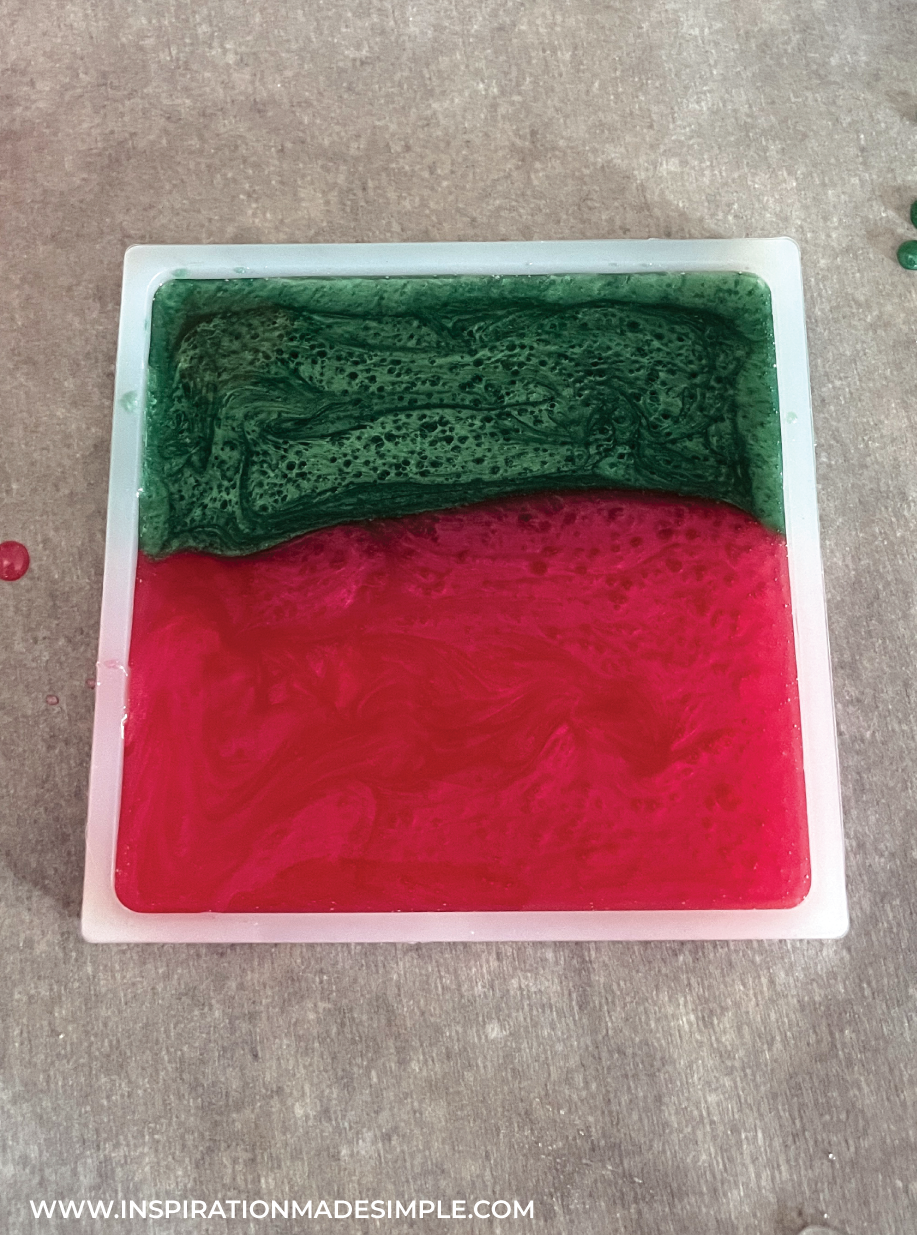 Resin curing in silicone mold