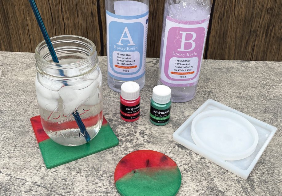 DIY Watermelon Resin Coasters